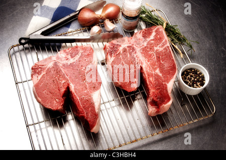 Raw Steaks - Stock Photo