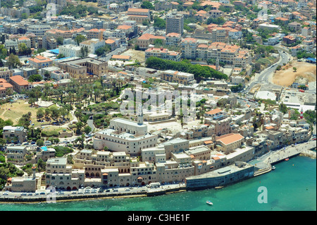 Aeriel Photograph view of the old city of Jaffa in Tel Aviv, Israel - Stock Photo