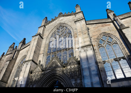 St Giles Cathedral Edinburgh Scotland on the Royal Mile - Stock Photo