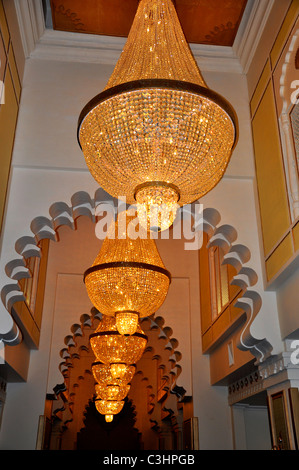 Chandelier in City Palace,Udaipur, Rajasthan - Stock Photo