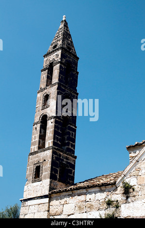 Traditional church at Bochali area of Zakynthos island in Greece - Stock Photo