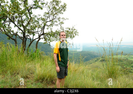 Virunga National Park, eastern Democratic Republic of Congo, Central Africa in the great Rift Valley. View from - Stock Photo