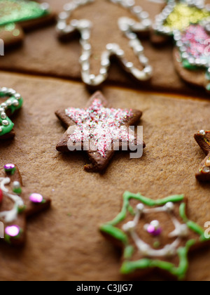 Star-shaped gingerbread - Stock Photo