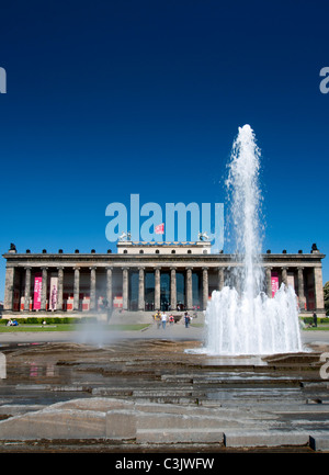 Exterior view of Altes Museum on Museum Island or Museumsinsel in Mitte district Berlin Germany - Stock Photo