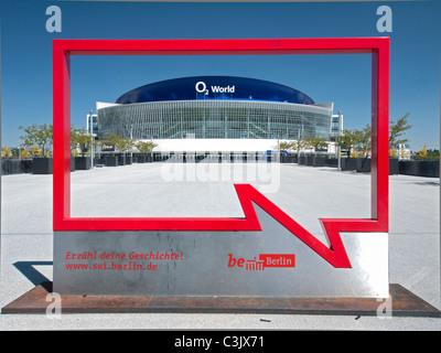 The O2 World Arena in Friedrichshain in Berlin Germany - Stock Photo