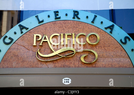 Galerias Pacifico, a shopping center in Buenos Aires, Argentina. - Stock Photo