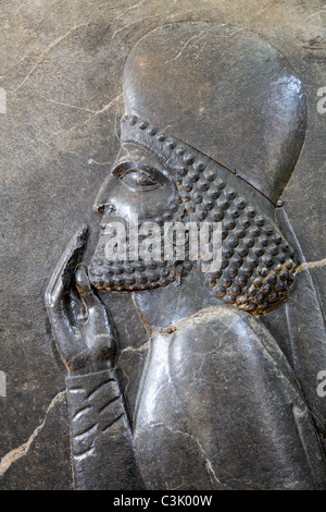 Exhibit from Persepolis at the National Archaeological Museum in Tehran, Iran - Stock Photo