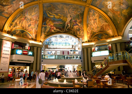 Frescos in the cupola of Galerias Pacifico, a shopping center in Buenos Aires, Argentina. - Stock Photo