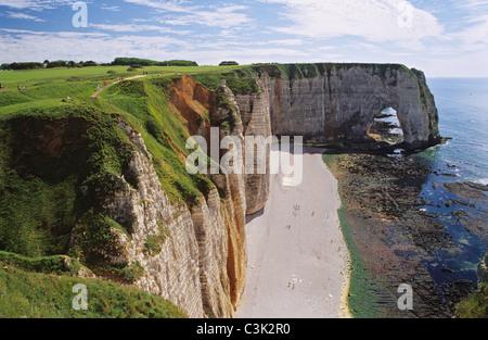 Cote d'Albatre near Etretat - Stock Photo