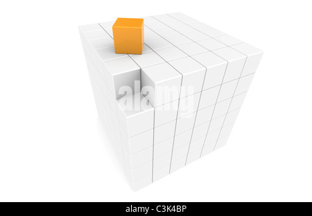 Missing Link. Cube with missing piece - Stock Photo