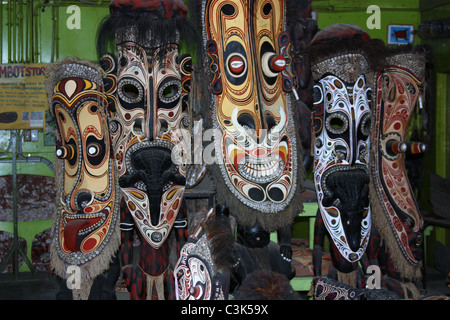 Masks in Papua New Guinea - Stock Photo