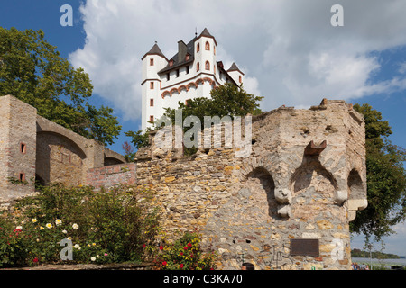 Europe, Germany, Hesse, View of electoral castle of eltville - Stock Photo