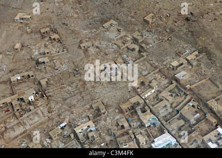 aerial view of Kabul, Afghanistan - Stock Photo