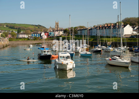 Aberaeron harbour Ceredigion Wales UK - Stock Photo
