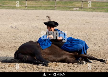 Hungary Kalocsa Traditional Hungarian Cowboy Show At