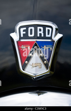 2017 Ford Truck Colors >> Front grille and badge of a blue vintage Fordson Major farm tractor Stock Photo, Royalty Free ...