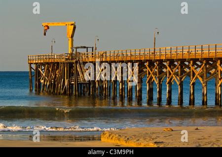 Pier at Gaviota Beach State Park, near Santa Barbara, California - Stock Photo