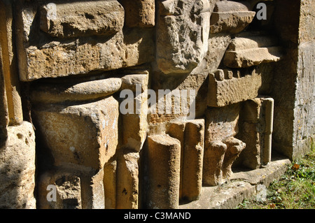 Artefacts in St. Peter`s churchyard, Stanway, Gloucestershire, England, UK - Stock Photo