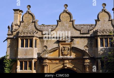 Stanway House gateway, Gloucestershire, England, UK - Stock Photo