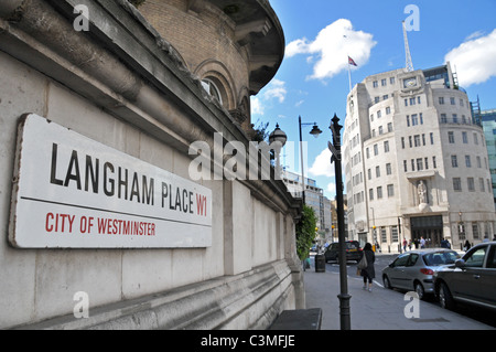 BBC Broadcasting House Portland Place Art Deco 1930s - Stock Photo