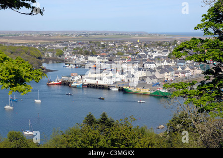 The town and harbour at Stornoway on the Isle of Lewis - Stock Photo