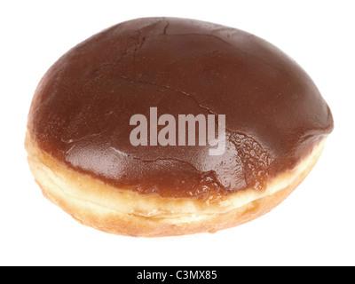 Krispy Kreme Chocolate Iced Donut - Stock Photo