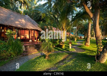 Indonesia, Island Bali, near Tejakula village, Gaia Oasis Resort. Bungalow. - Stock Photo