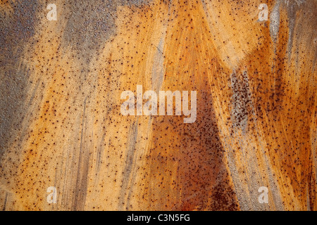 Photography shows a rusty metall background with scrachted surface. - Stock Photo