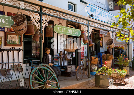 South Africa, Western Cape, Stellenbosch, ' Oom Samie se Winkel ' , an antique and curiosity shop. - Stock Photo