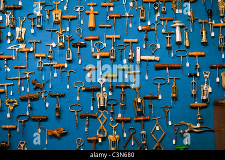 South Africa, Western Cape, Franschhoek, The Old Corkscrew, an antique and curiosity shop. - Stock Photo