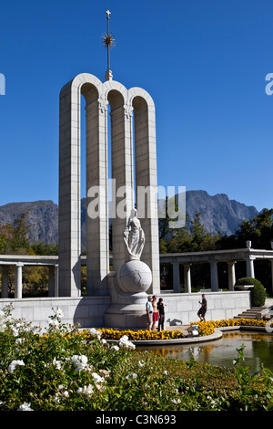 South Africa, Western Cape, Franschhoek, Huguenot Monument. - Stock Photo