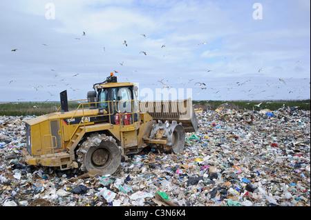 Regional waste management dump in New Brunswick Canada - Stock Photo