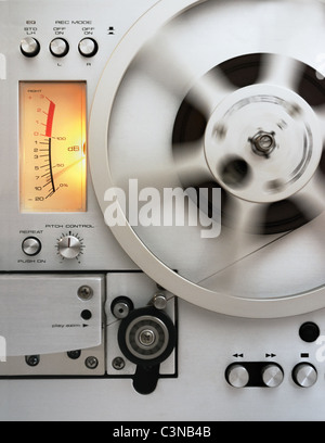 A reel-to-reel tape recorder - Stock Photo