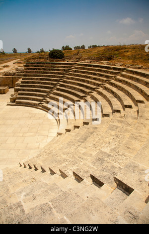 Roman Amphitheater in Paphos, Cyprus - Stock Photo