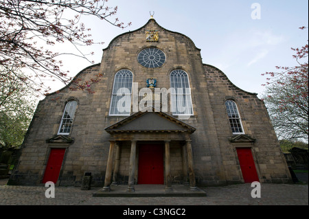 Kirk of the Canongate, Edinburgh - Stock Photo