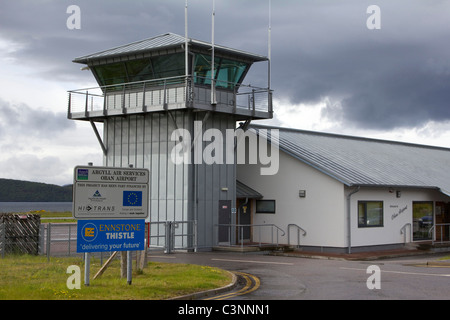 Oban Airport  is located  northeast of Oban, near the village of North Connel, Argyll and Bute, Scotland. - Stock Photo