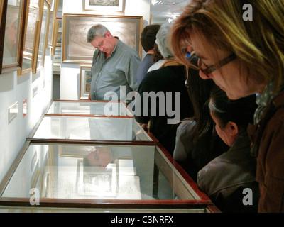 Paris, France, People Looking, Visiting Musee de la Prefecture de Paris, Police Museum, - Stock Photo