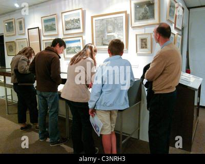 Paris, France, Family Visiting Historical Exhibit, in 'Musee de la Prefecture de Paris', Police Museum, - Stock Photo