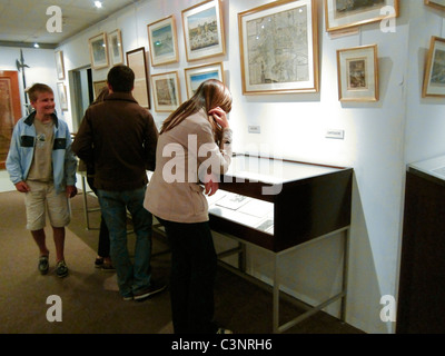 Paris, France, Family Visiting Historical Exhibit in Musee de la Prefecture de Paris, Police Museum, - Stock Photo