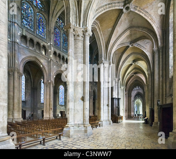 Interior of the Cathedral of Notre Dame, Chartres, France - Stock Photo