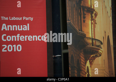 The annual Labour Party conference 2010 in Manchester Central on September 2010.(Photo by Shoja Lak) - Stock Photo
