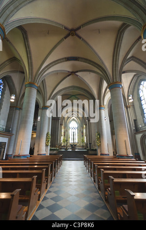 Altar view of the Dom in Essen, Germany - Stock Photo