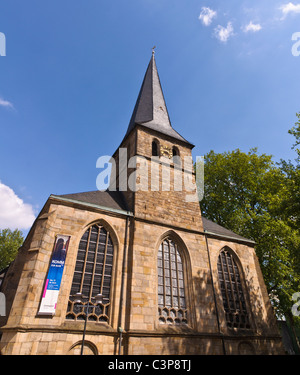 Tower of the dom in Essen, Germany - Stock Photo