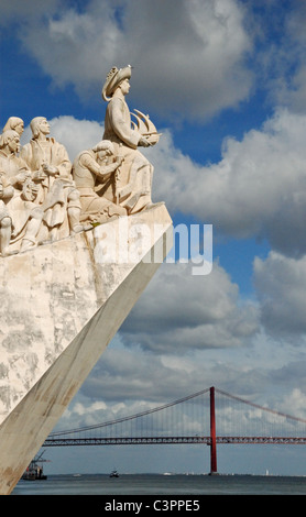 Monument To The Discoveries, in Belem district, Lisbon. Portugal, Europe. - Stock Photo