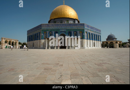 Dome of the Rock on Temple Mount in Jerusalem - Stock Photo