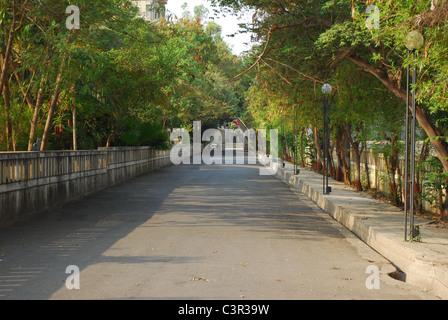entrance road way - Stock Photo