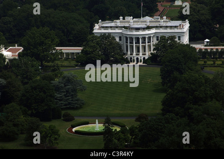 United States. Washington D.C. The White House. Built in 1792 in neoclassical style by James Hoban (c. 1762-1831). - Stock Photo