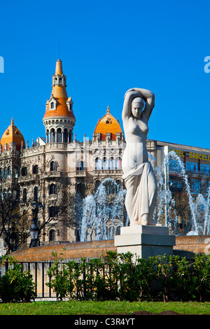 Barcelona, Placa de Catalunya - Stock Photo