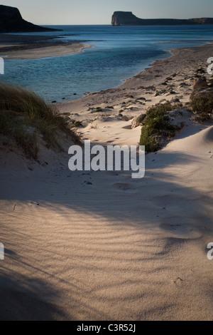 Balos Beach, on Gramvousa peninsula, in north western Crete, Greece. - Stock Photo