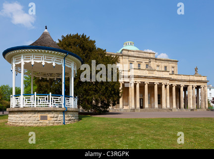 The Pittville Pump Room in Pittville Park Cheltenham Gloucestershire England UK GB - Stock Photo